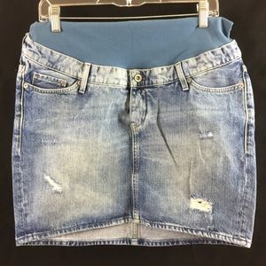 H&M Mama Denim Skirt Size 10 ( EUC)